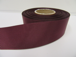 Burgundy Wine Claret Grosgrain ribbon Ribbed Double sided 3mm 6mm 10mm 16mm 22mm 38mm 50mm